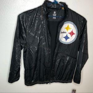 NFL Steelers Men's Jacket size XL.  Has hoodie